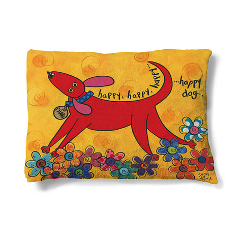 "Happy Dog 30"" x 40"" Fleece Dog Bed"