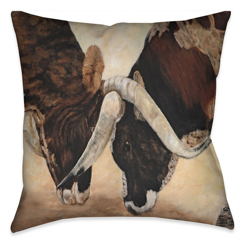 Hook and Horn Indoor Decorative Pillow