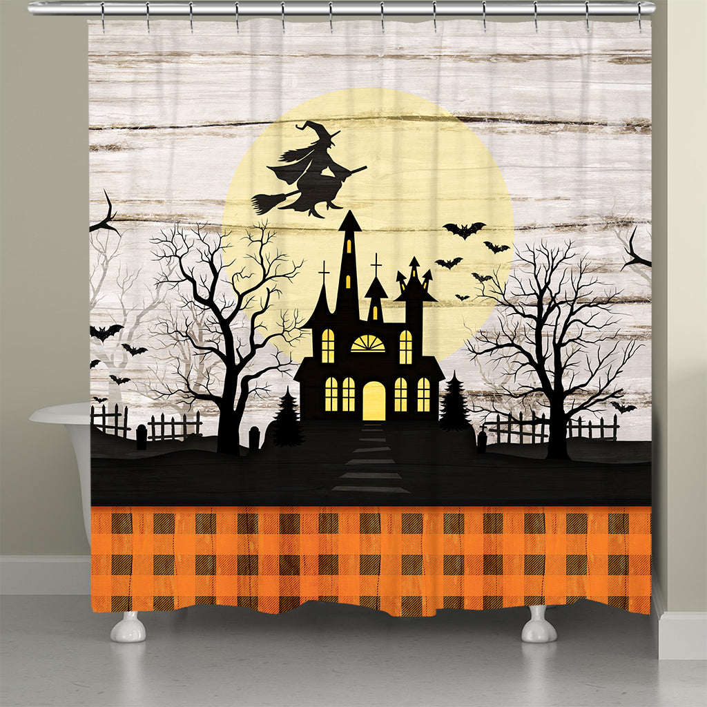 Halloween Hauntings Shower Curtain