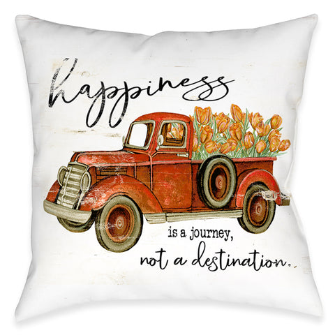 Happiness Journey Outdoor Decorative Pillow