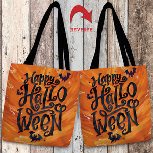 Happy Bat Halloween Tote Bag