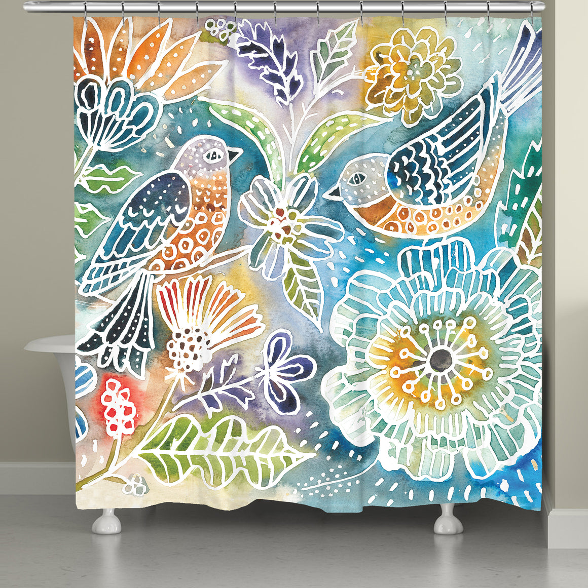 Happy Birds Shower Curtain