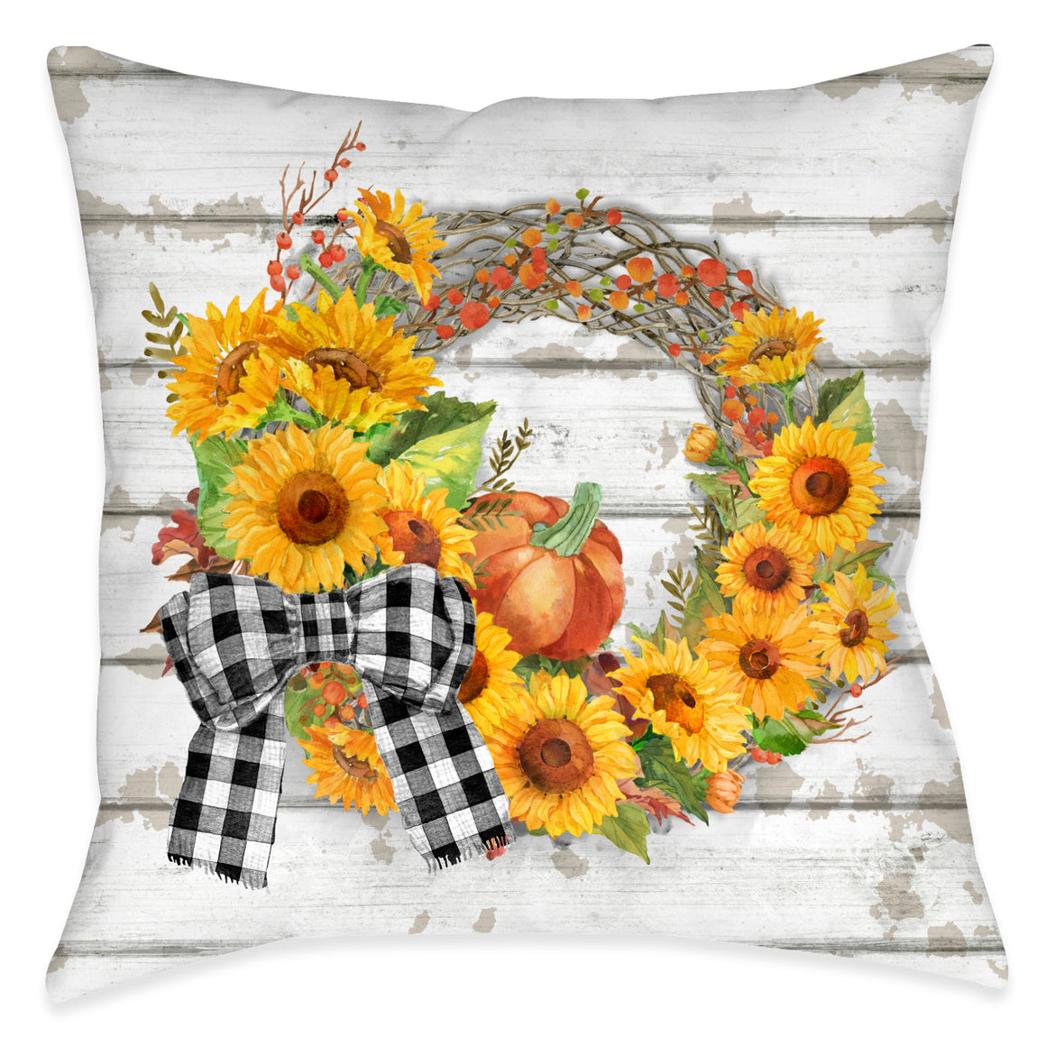Harvest Wreath Indoor Decorative Pillow