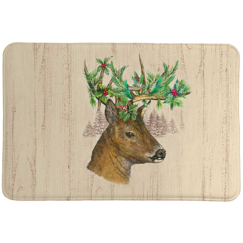 Holiday Deer Memory Foam Rug