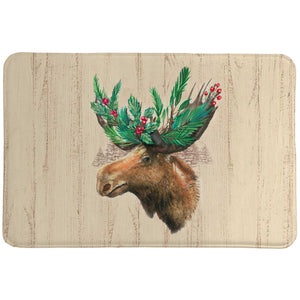 Holiday Moose Memory Foam Rug