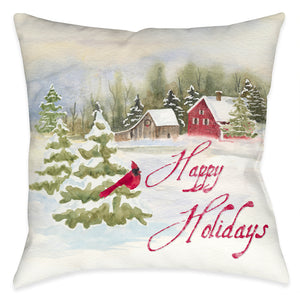 Holiday Cardinal Indoor Decorative Pillow