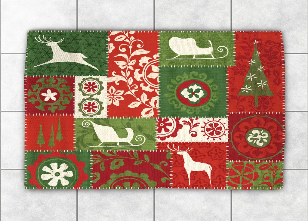 Holiday Patchwork Accent Rug