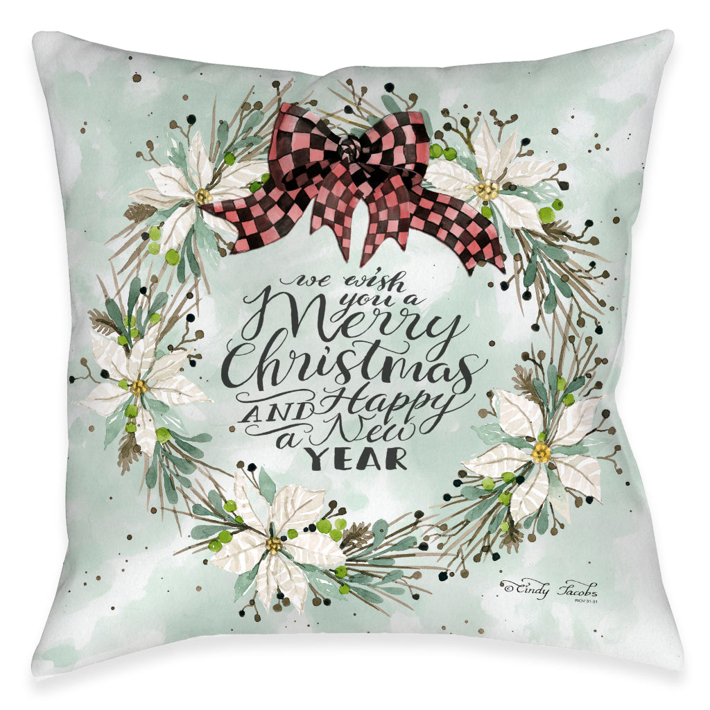 Holiday Wishes Indoor Decorative Pillow