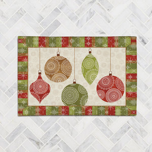 Holiday Ornaments Accent Rug
