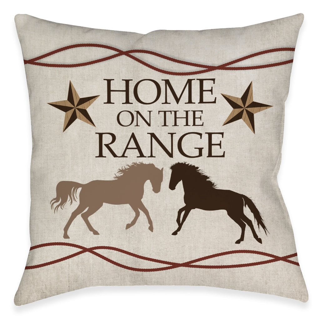 Home On The Range Outdoor Decorative Pillow