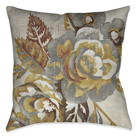 Honeyed Blooms II Outdoor Decorative Pillow