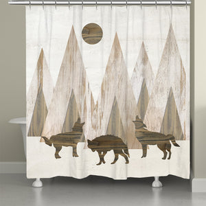 Howling Woods Shower Curtain
