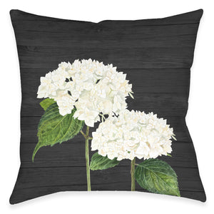 Hydrangea Bunch Outdoor Decorative Pillow