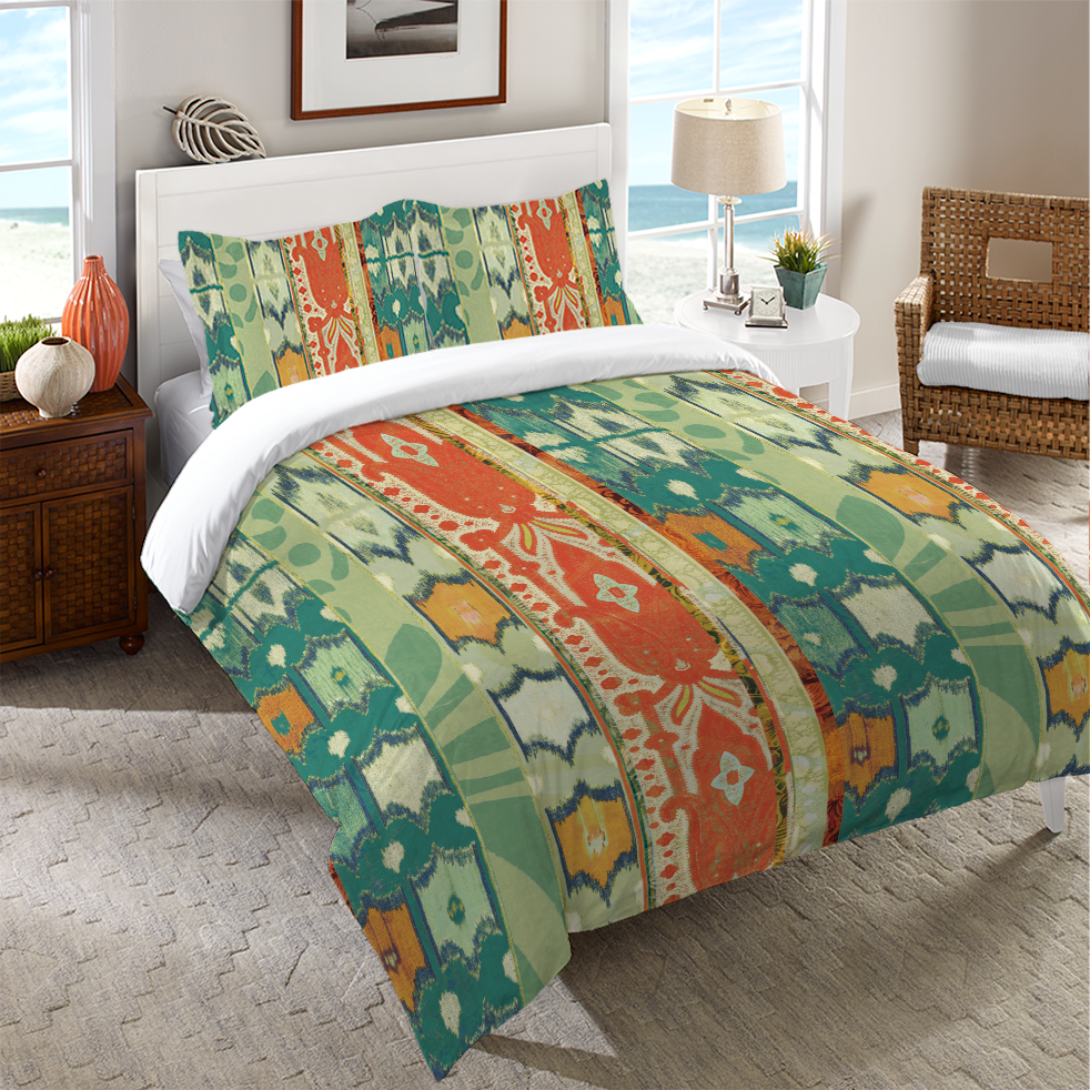 Ikat Bloom Duvet Cover