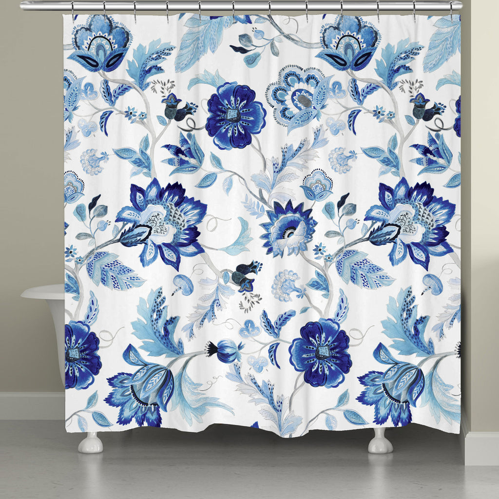 Indigo Capri Shower Curtain