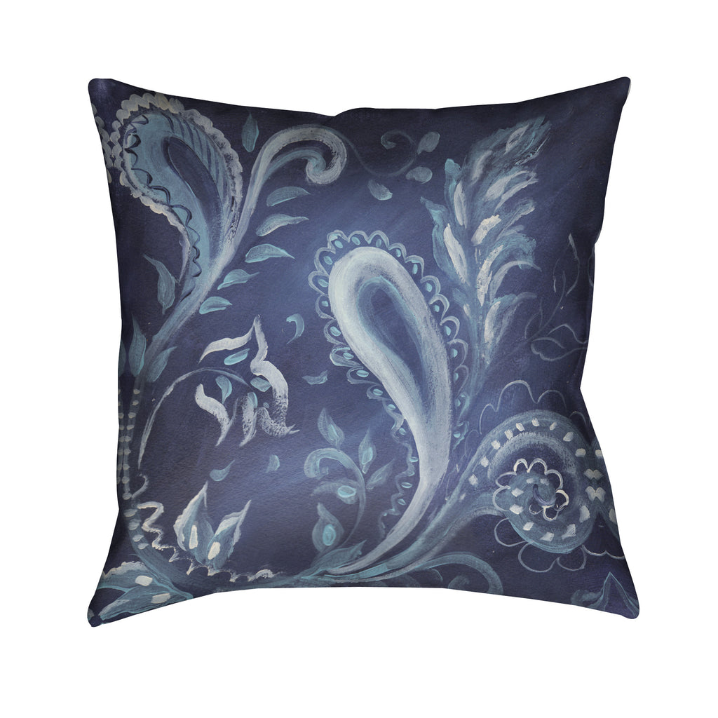 Indigo Pattern III Outdoor Decorative Pillow