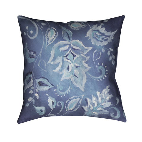Indigo Pattern II Outdoor Decorative Pillow