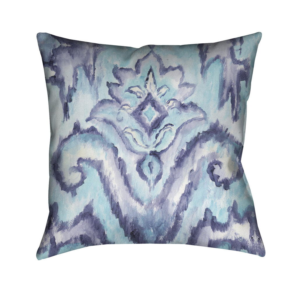 Indigo Pattern I Outdoor Decorative Pillow