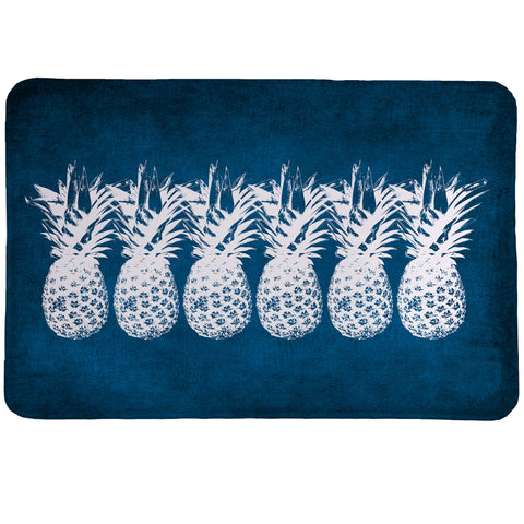 Indigo Pineapples Memory Foam Rug