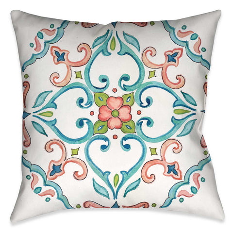 Jewel Medallion I Indoor Decorative Pillow