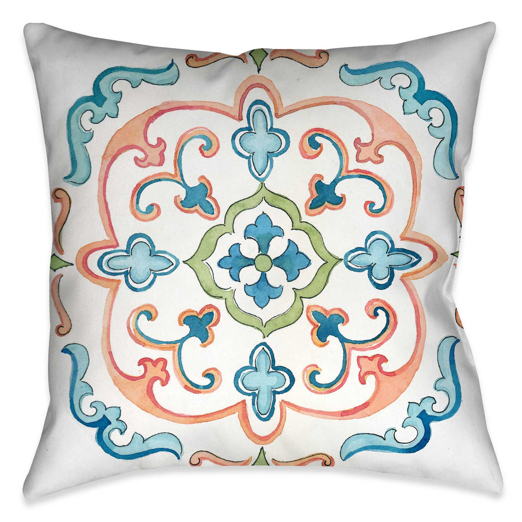 Jewel Medallion III Indoor Decorative Pillow