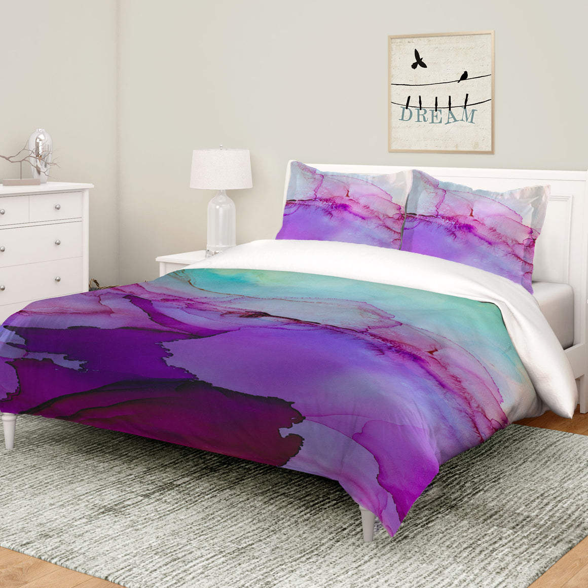 Luminescent Jewel Tones Comforter