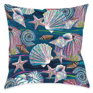 Jewels of the Sea Indoor Decorative Pillow