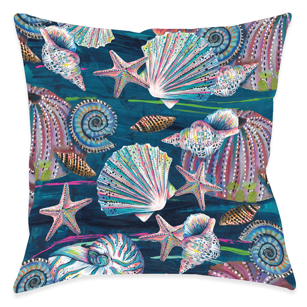 Jewels of the Sea Outdoor Decorative Pillow
