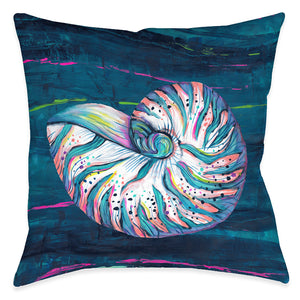 Seashell Jewel Outdoor Decorative Pillow
