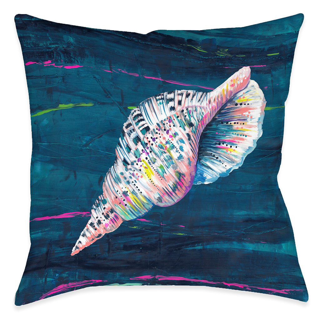 Deep Seashell Outdoor Decorative Pillow