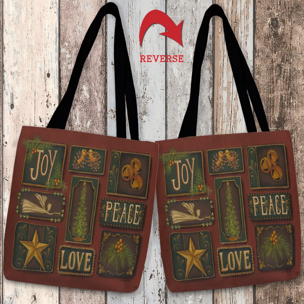 Joy Peace Love Tote Bag