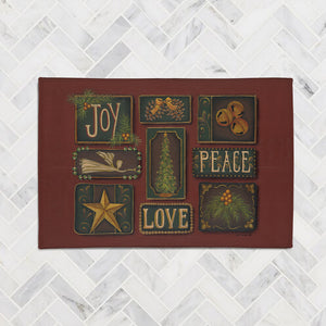 Joy Peace Love Accent Rug