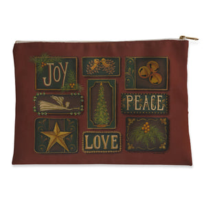 Joy Peace Love Flat Pouch