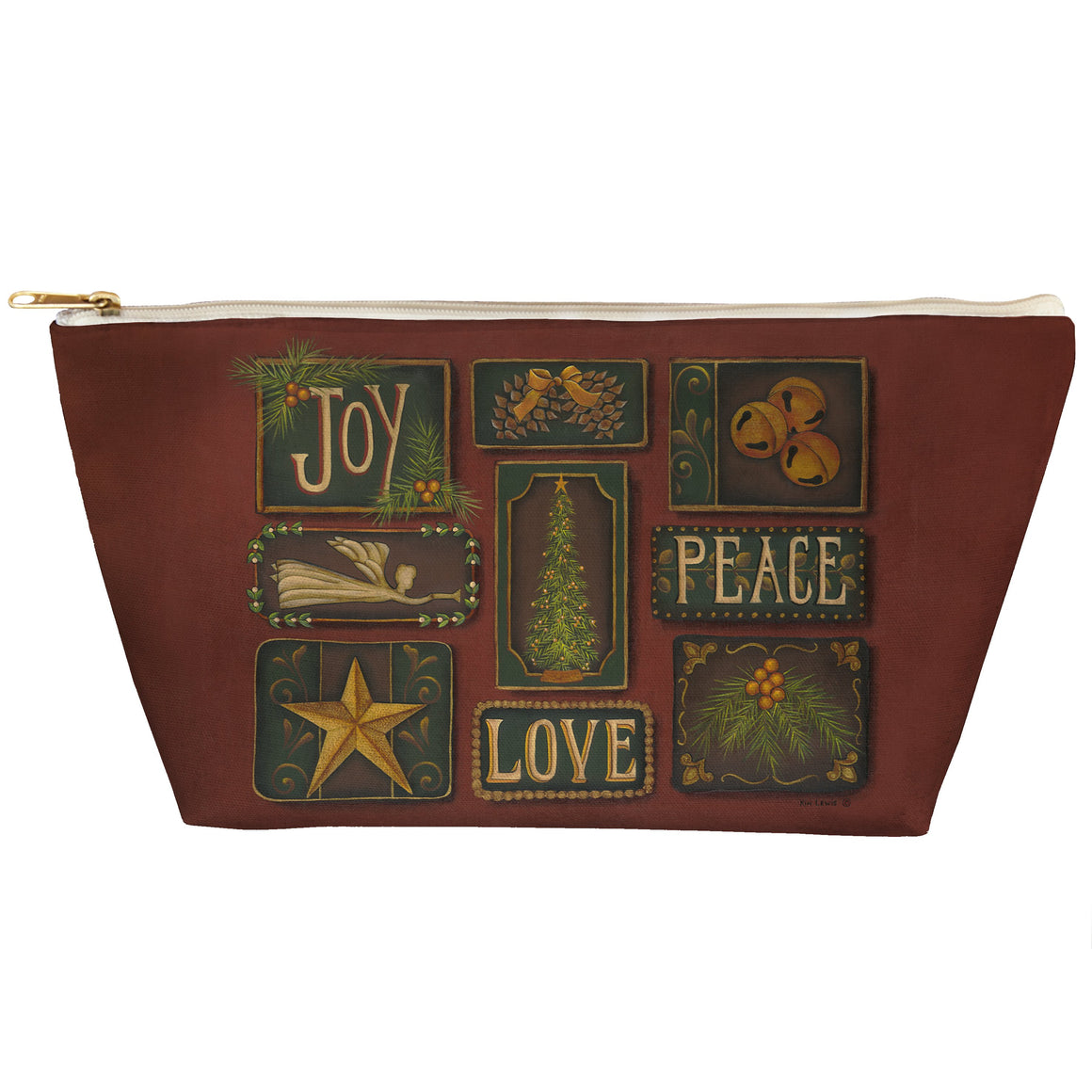 Joy Peace Love Tapered Pouch