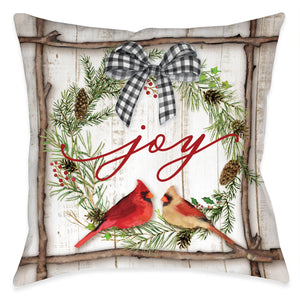 Joyful Cardinal Indoor Decorative Pillow