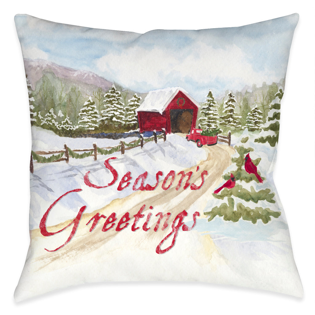 Joyful Greeting Indoor Decorative Pillow