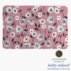 Laural Home kathy ireland® Small Business Network Member Delicate Floral Toss Memory Foam Rug