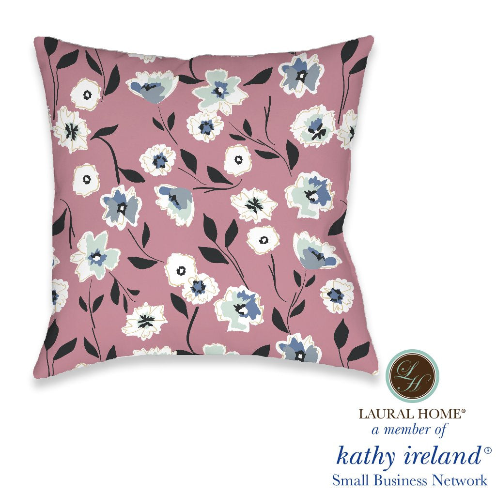 Laural Home kathy ireland® Small Business Network Member Delicate Floral Toss Indoor Decorative Pillow
