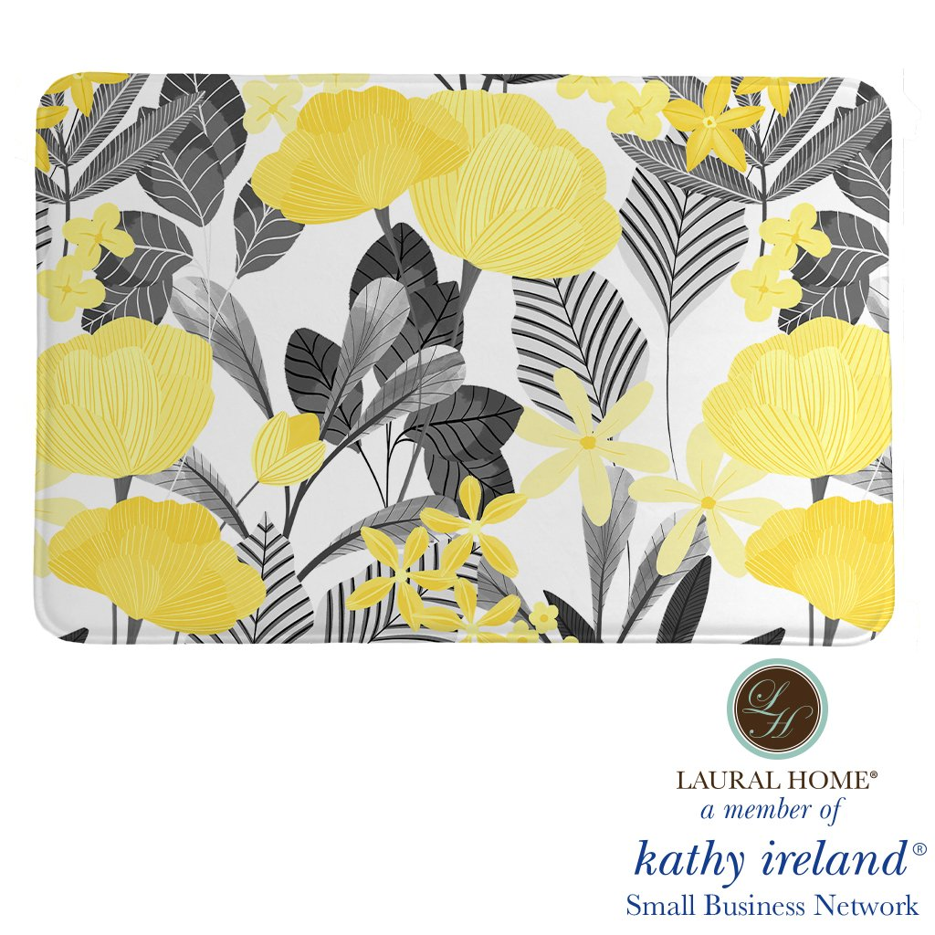 Laural Home kathy ireland® Small Business Network Member Illuminating Garden Memory Foam Rug