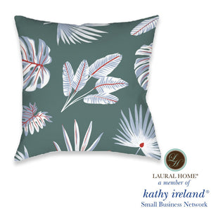 Laural Home kathy ireland® Small Business Network Member Palm Court Fan Outdoor Decorative Pillow