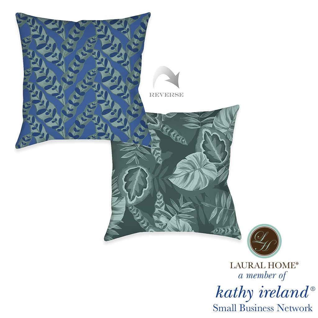 Laural Home kathy ireland® Small Business Network Member Palm Court Jungle Outdoor Decorative Pillow