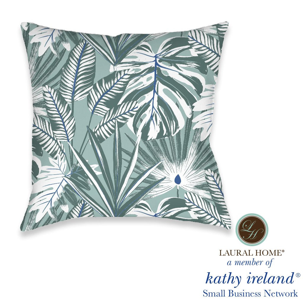 Laural Home kathy ireland® Small Business Network Member Palm Court Palace Outdoor Decorative Pillow
