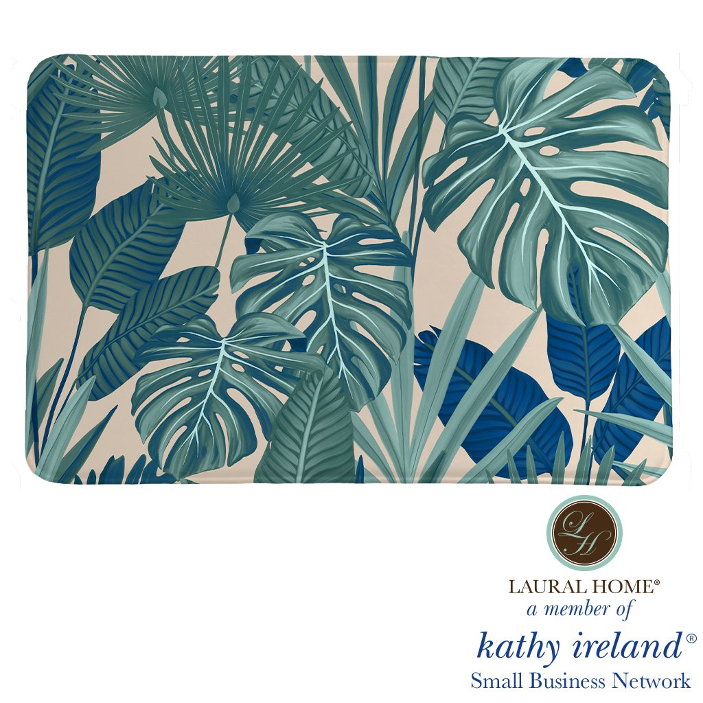 Laural Home kathy ireland® Small Business Network Member Palm Court Royal Memory Foam Rug
