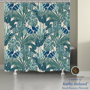 Laural Home kathy ireland® Small Business Network Member Palm Court Royal Shower Curtain