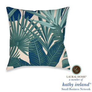 Laural Home kathy ireland® Small Business Network Member Palm Court Royal Outdoor Decorative Pillow