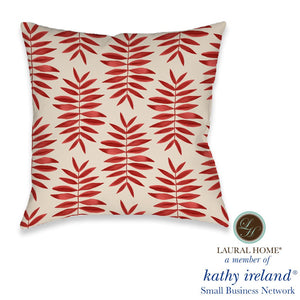 Laural Home kathy ireland® Small Business Network Member Palm Fern Outdoor Decorative Pillow