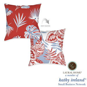 Laural Home kathy ireland® Small Business Network Member Palm Tropical Outdoor Decorative Pillow
