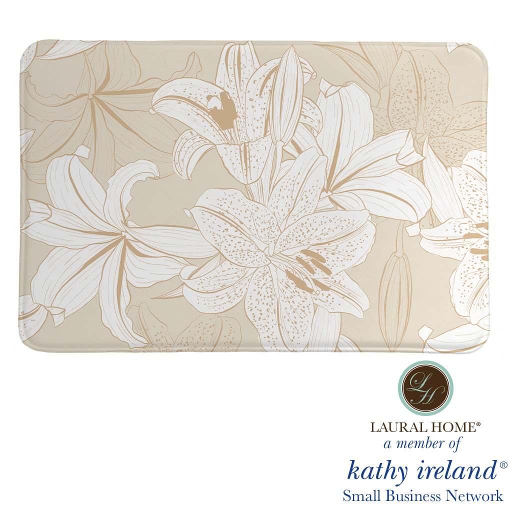 Laural Home kathy ireland® Small Business Network Member Peaceful Elegance Lily Memory Foam Rug