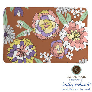 Laural Home kathy ireland® Small Business Network Member Retro Floral Bursts Memory Foam Rug