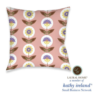 Laural Home kathy ireland® Small Business Network Member Retro Vintage Outdoor Decorative Pillow